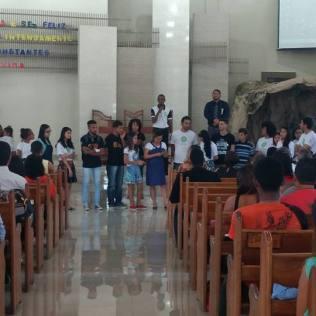 Os candidatos sabatistas do ENEM participaram de um momento especial na Igreja Adventista de Porto Seguro na manhã do sábado (5)
