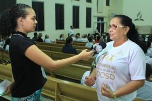 Uma das participantes concedeu entrevista ao canal de TV Difusora (SBT)