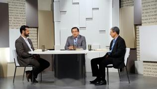 Gravação do programa sobre Teologia com apresentação do Dr. Adolfo Suárez.