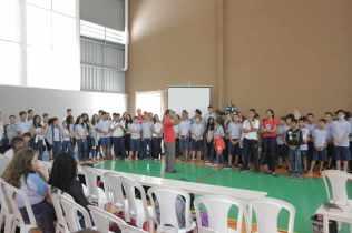 """Na Escola Adventista de Gurupi os alunos participaram de capelas especiais abordando o tema da Semana de Santa, neste ano com o título """"O Resgate""""."""