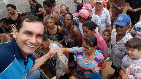 Distribuição de peixes para as famílias