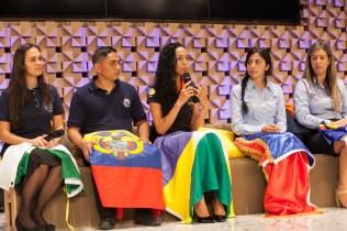 Participantes do Um Ano em Missão compartilham as experiências que tem vivido e o crescimento espiritual que tem experimentado (Foto: Gustavo Leighton)