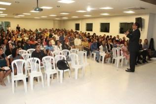 Apresentador da TV Novo Tempo, Luís Gonçalves, fez a mensagem na cerimônia inaugural
