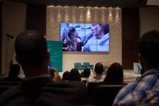 Versão do filme O Resgate foi exibida durante a transmissão (Foto: Gustavo Leighton)