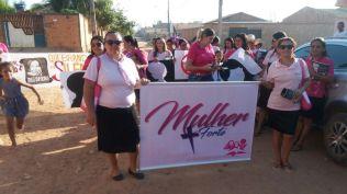 Mulheres participam de passeata que orienta sobre a prevenção ao abuso sexual. (foto: divulgação)