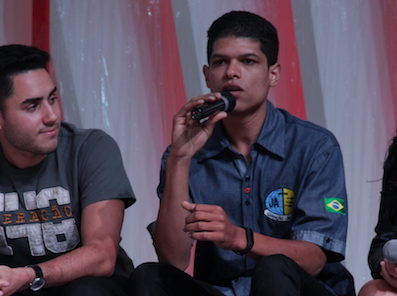 Daniel compartilha sua história no 1º Congresso de Universitário