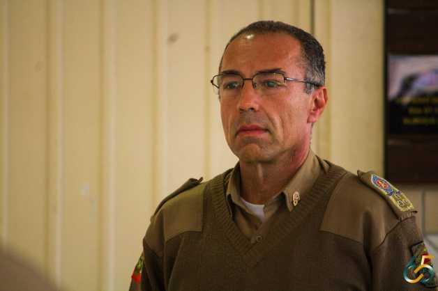 Comandante Geral da Polícia Militar de Santa Catarina, coronel Caros Alberto de Araújo Gomes Junior, esteve visitando o CAF-C