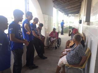 Abrigo de idosos foi visitado por equipe