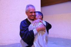 Cerimônia encerrou com batismo
