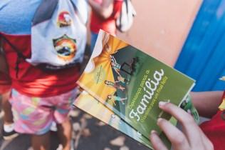 100 mil exemplares do livro missionário serão entregues durante o Campori. Número é 150% maior que na edição de 2014 (Foto: Ellen Lopes)