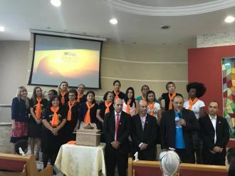 As participantes da Classe Bíblica pedem para ser investidas no projeto MEL (Mulheres Espalhando Luz).