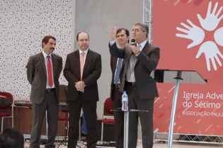 Presidentes da Igreja Adventista (nacional e regionais) participaram do Compassion (Foto: Cláudio Donatto)