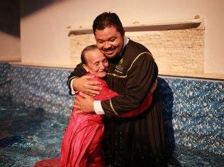Batismos confirmaram o intenso trabalho evangelístico realizado pelas mulheres (Foto: Kayo Farias)