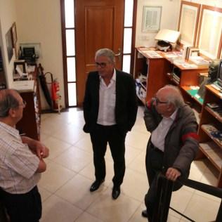 Reunidos na recepção do Centro Cultural (Foto: Mauren Fernandes)