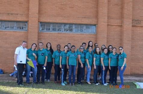 Equipe da Escola Adventista da Uberaba. (Foto: José Rubens)