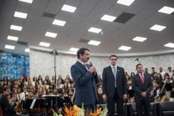 Pastor Domingos de Souza, presidente da Igreja Adventista em São Paulo, falou durante o evento também.