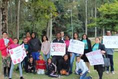 Adventistas durante ação no Parque do Carmo (Foto: Maxwell Oliveira)