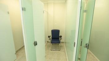 Novas salas de coleta do laboratório de análises clínicas.