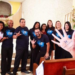 Integrantes do Ministério de Surdos. (foto: Elenis Ribeiro)