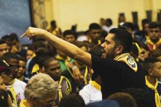 Pastor Rafael Santos fala sobre a importância de ser um evangelista dentro do próprio lar. Foto: Tiago Nascimento