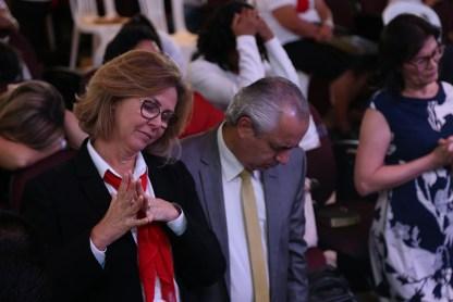Sara Lima e o Pr. Mauricio Lima palestraram no Congresso. (Foto: Renata Paes)