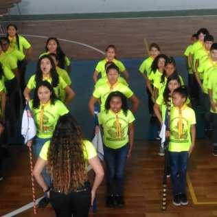 Ordem unida com o Clube de Desbravadores Comunitá-Rocinha.