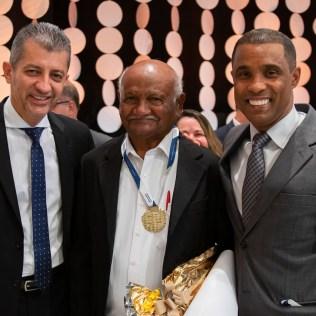 Pr. Custódio, Antônio Ribeiro e Pr. Adelson Santos.