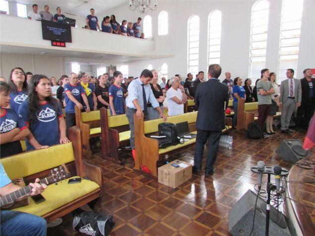 Equipe da sede administrativa da Igreja Adventista no centro sul de Santa Catarina esteve motivando os diversos departamentos presentes
