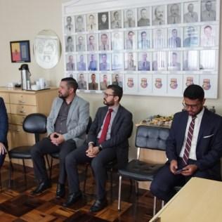 Pastores fizeram reflexões espirituais durante a visita. (Foto: Divulgação)