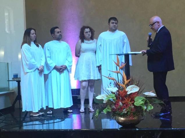 Batismos também foram realizados no Reencontro da Igreja Adventista de Tucuruvi (Foto: Arquivo Pessoal).