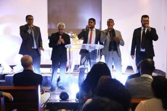 Quarteto Orion ficou responsável pelas músicas especiais. (Foto: Renta Paes)