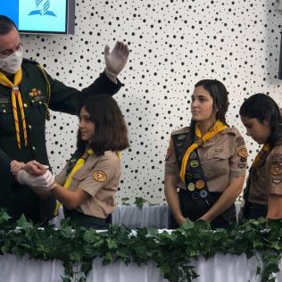 Batismos foram transmitidos pela internet, durante Campori/Aventuri On-line(Foto: Arquivo Pessoal).