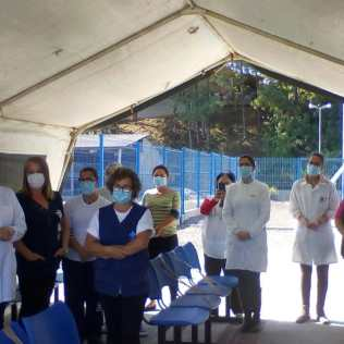 Equipe de enfermagem foi homenageada em unidade de saúde de Joinville. [Foto: ASA da igreja adventista central de Joinville].