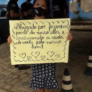 Homenagem aos profissionais de saúde em Aracata. (Imagem: reprodução)