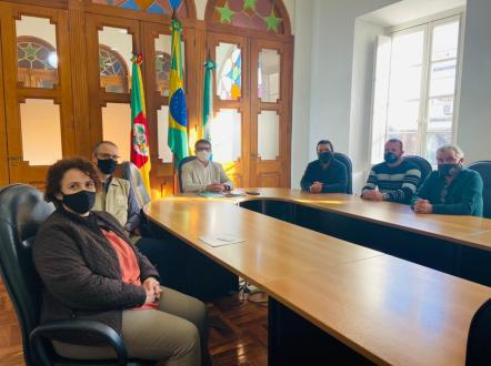 Reunião com o Prefeito da cidade de Rio Grande, Fábio Branco, onde foi apresentado a ADRA e várias propostas de trabalho e parcerias.