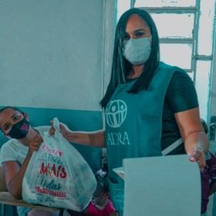 Foram 630 Kg de alimento em cestas básicas doadas para as famílias. (Foto: Ivo Araujo)