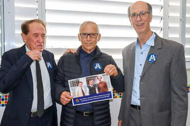 Fundadores do Colégio - Sr. José Tadeu Araújo, Sr. Gedião Rosa, Sr. Omar Ramos e Sr. Daniel Silveira