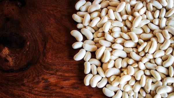 Feijão branco é uma deliciosa variedade de formato oval e achatado