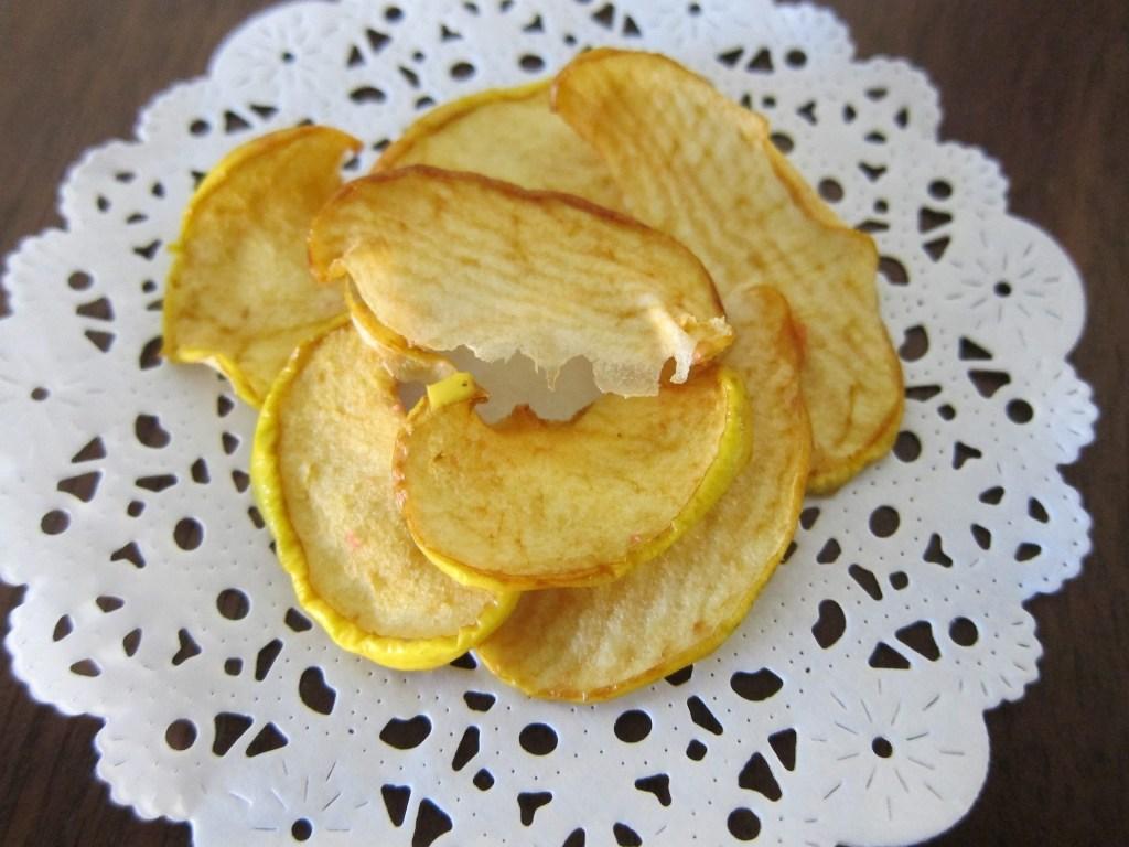 chips de maçã são ótima opção de lanche