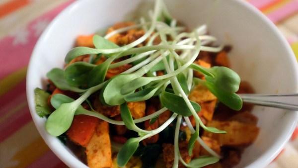 Broto de girassol é comumente utilizado na culinária oriental