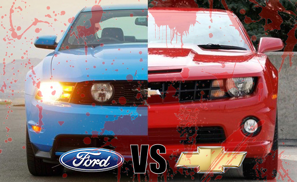 Ford vs. Chevy Debate Ends in a Knife Fight!