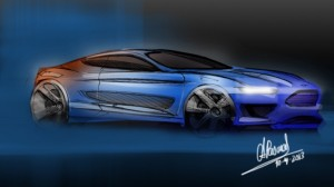 Evos inspried 2015 Ford Mustang Sketch