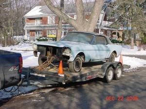 Start of 1964.5 Mustang Restoration
