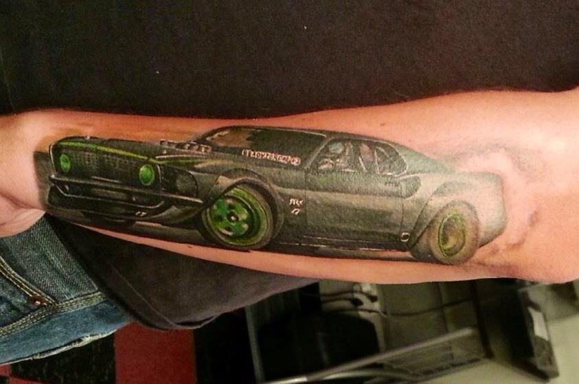 Custom 1969 Mustang Tattoo