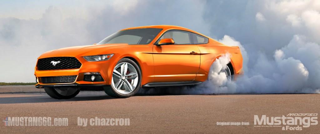 2015 Mustang Burnout Rendering