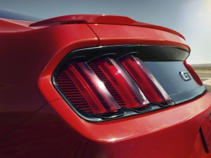 2015 Mustang Tail Lights Close Up