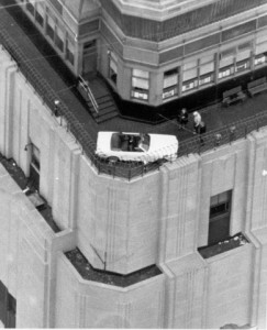 1966 Mustang on top Empire State Building