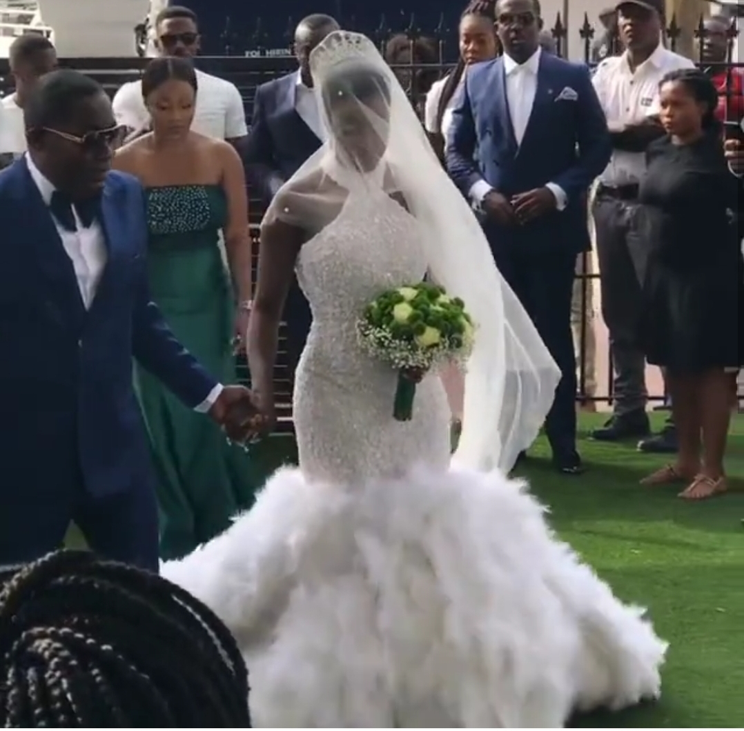 Watch: Dr. Osei Kwame Despite walks his daughter Anita down the aisle