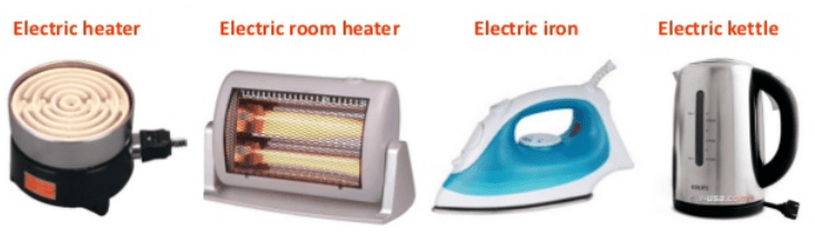 Appliances that work on the heating effect of electric current