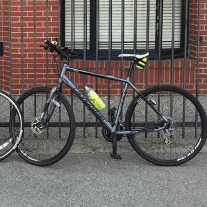 55b648a860e 2014 Cannondale Quick Cx 4(silver, gray or bare metal) - BikinginLA